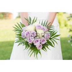 Bruidsboeket purpel