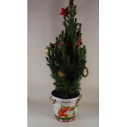 kerstboom pot wit