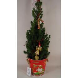 kerstboompje pot rood
