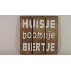 houten tekstplank